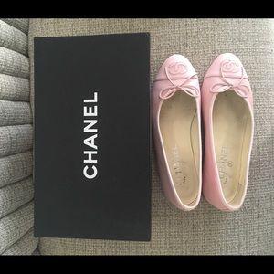 Chanel Ballerina Flats Light Pink Size 36.5